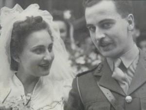 Stanley u Vera Clews fil-ġurnata tat-tieġ