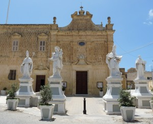 Faċċata tal-Kunvent Santu Wistin Rabat Għawdex