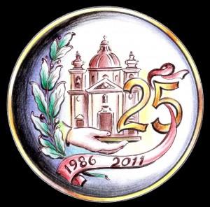 Logo Għaqda Mudelli Knejjes - 25 sena