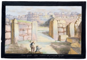 19th cent Ġgantija illustrations in colour