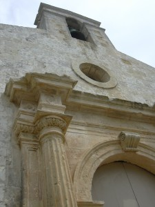 Architectural detail of St Gregory's church Żejtun