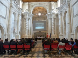 During the seminars at Auditorium San Vincenzo Ferreri in Ragusa Ibla