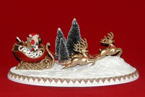 Egg Santa Sleigh and Reindeer