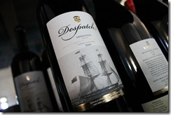 A bottle of Despatch wine