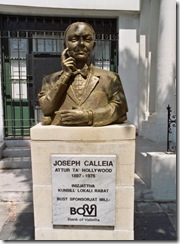 Il-bust ta' Joseph Calleia li jinsab is-Saqqajja, ir-Rabat, Malta