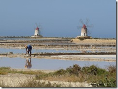 The lagoon of Stagnone in Marsala