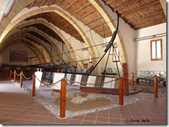 The wreck of a Punic warship in the archaeological museum of Baglio Anselmi in Marsala
