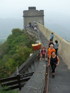 Experiencing the Great Wall of China (I am the one in black) - (Photo - Fiona Vella)
