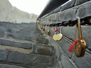 Lovelocks attached to the Great Wall (Photo - Fiona Vella)