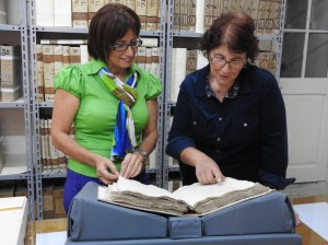 From left - Dr Joan Abela and Isabelle Camilleri at the Notarial Archives2