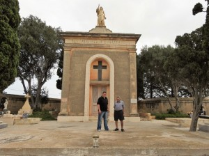 Albert and Alfred Mifsud at San Nikola Cemetery (Photo - Fiona Vella) (1)