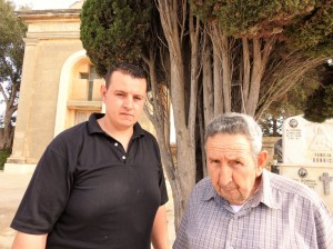 Albert and Alfred Mifsud at San Nikola Cemetery (Photo - Fiona Vella) (2)