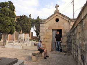 Undertakers Alfred and Albert Mifsud (Photo - Fiona Vella)