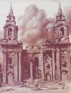 Bombed St Publius' church (Photo provided by Pawlu Piscopo)