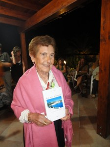 Franca Fadda Silvetti with her book (Photo courtesy Gian Piero Silvetti)