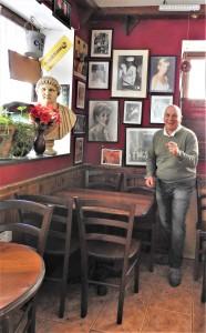 Frankie Cutajar in his pub (Photo - Fiona Vella)