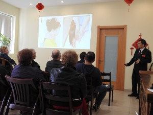 Dr Lu during his lecture - Photo by Fiona Vella