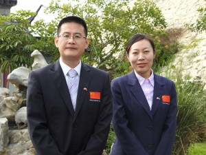 Dr Xiaoming Yang and Ms Wei Han (Photo - Fiona Vella)